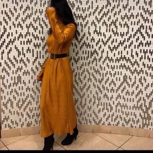 Zara || Long Sleeve Burnt Gold dress || medium